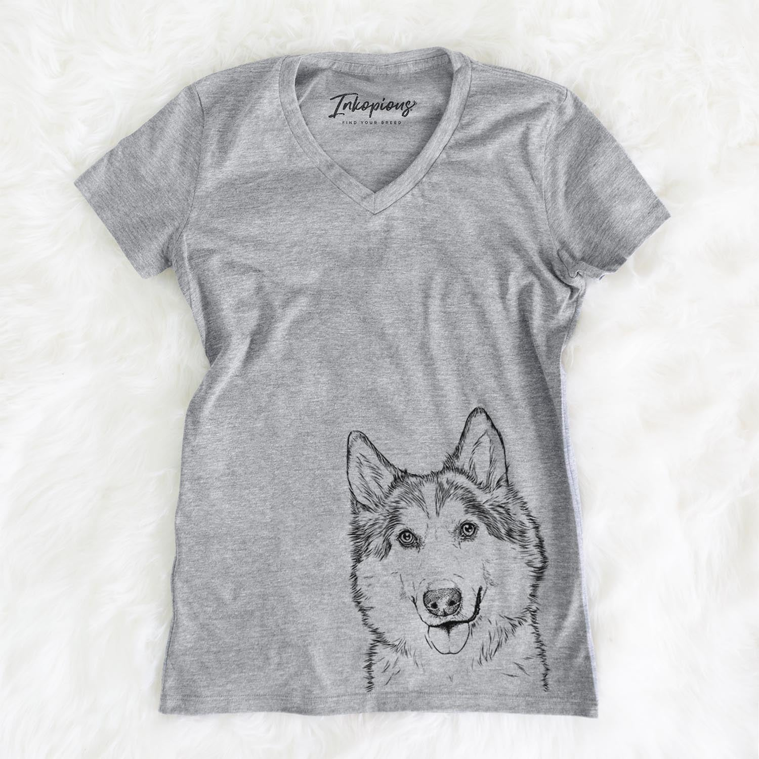 Roshi the Mixed Breed - Women's Modern Fit V-neck Shirt