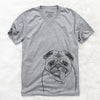 Rosie the Pug - Unisex V-Neck Shirt