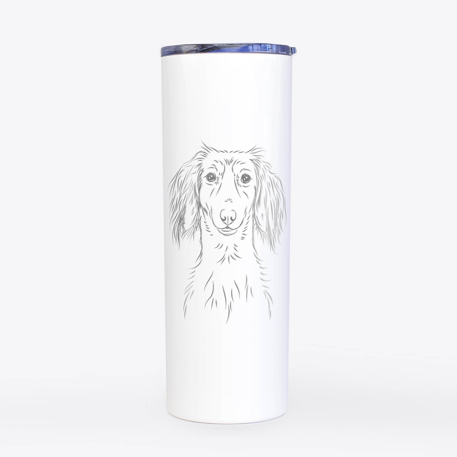 Roux the Long Haired Dachshund - 20oz Skinny Tumbler