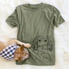 Roux the Long Haired Dachshund - Unisex Crewneck