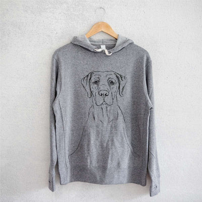 Rowdy the Labrador - Grey French Terry Hooded Sweatshirt