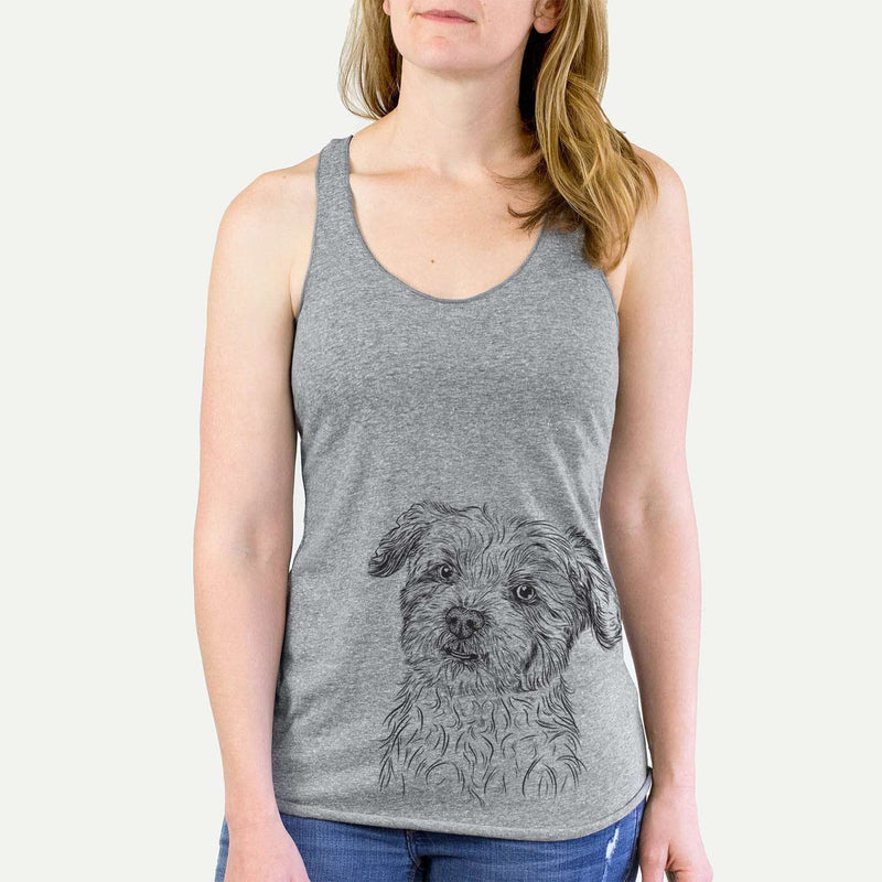 Roxie the Schnauzer Shih Tzu Mix - Racerback Tank Top