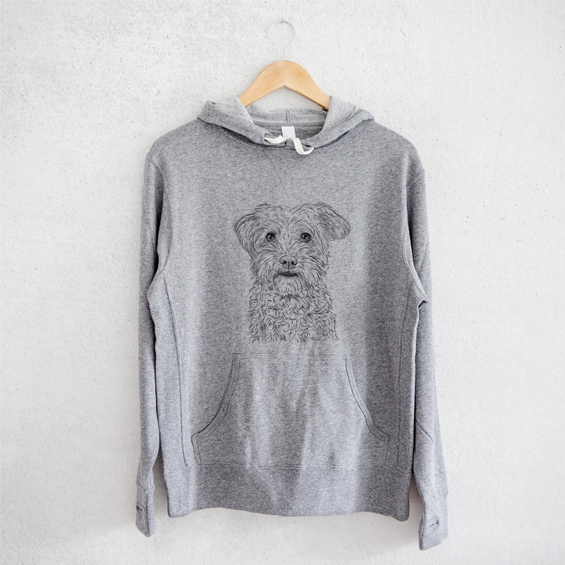 Rudy the Schnoodle - French Terry Hooded Sweatshirt