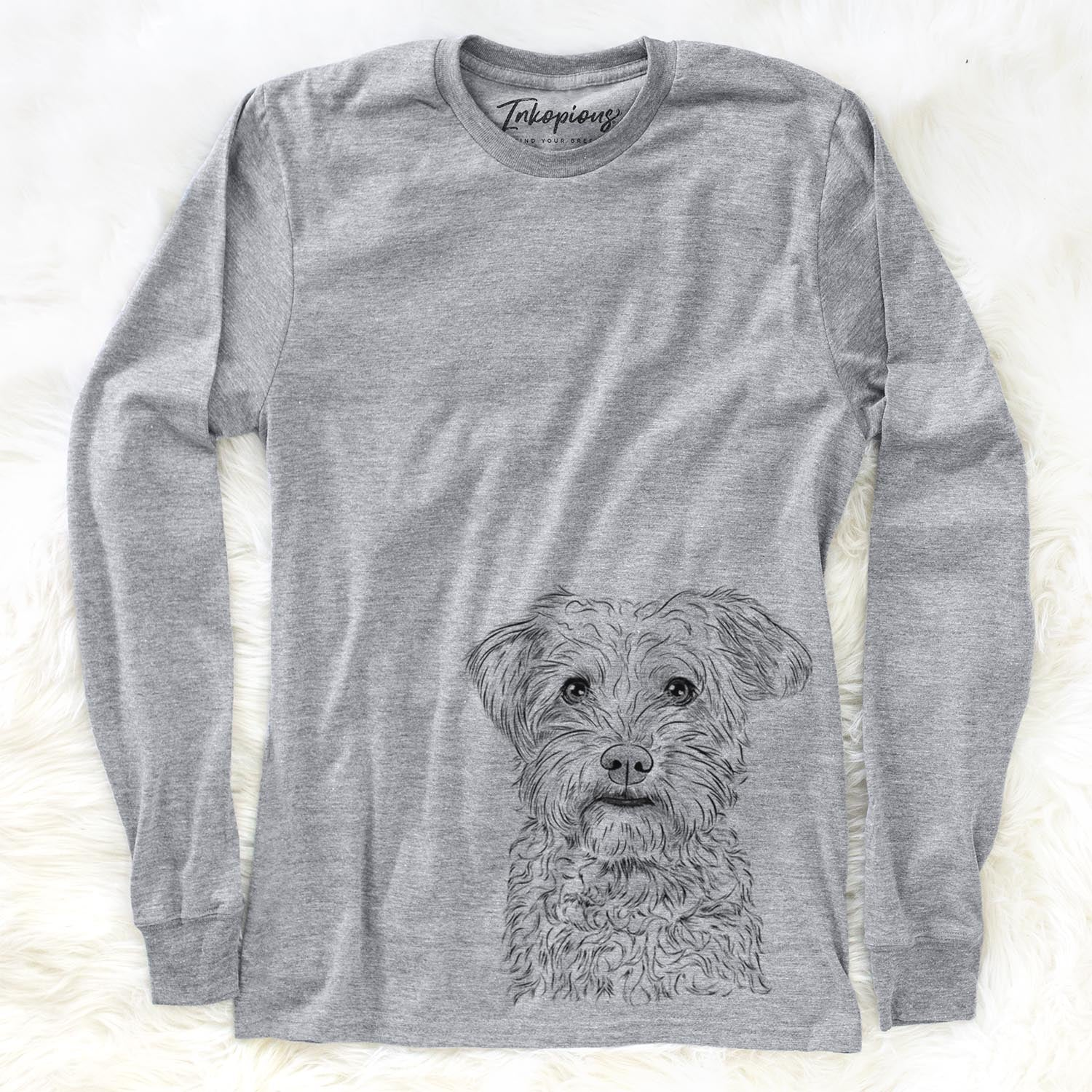 Rudy the Schnoodle - Long Sleeve Crewneck
