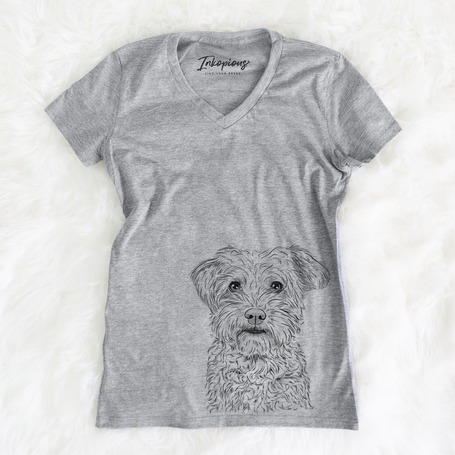 Rudy the Schnoodle - Women's Modern Fit V-neck Shirt