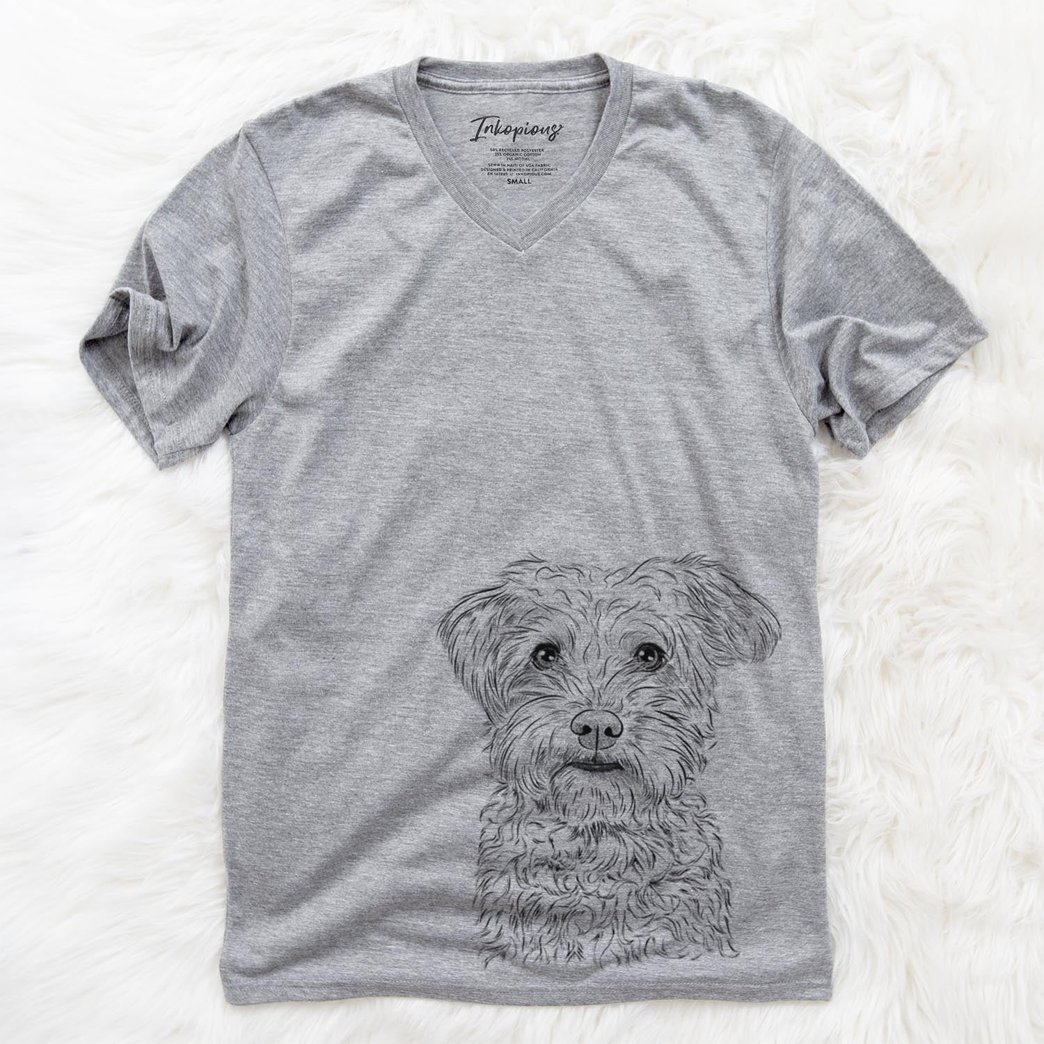Rudy the Schnoodle - Unisex V-Neck Shirt