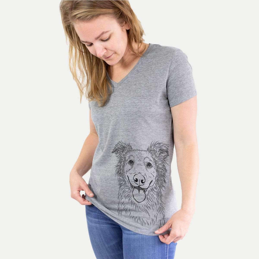 Ruxtin the Shepherd Mix - Women's Modern Fit V-neck Shirt