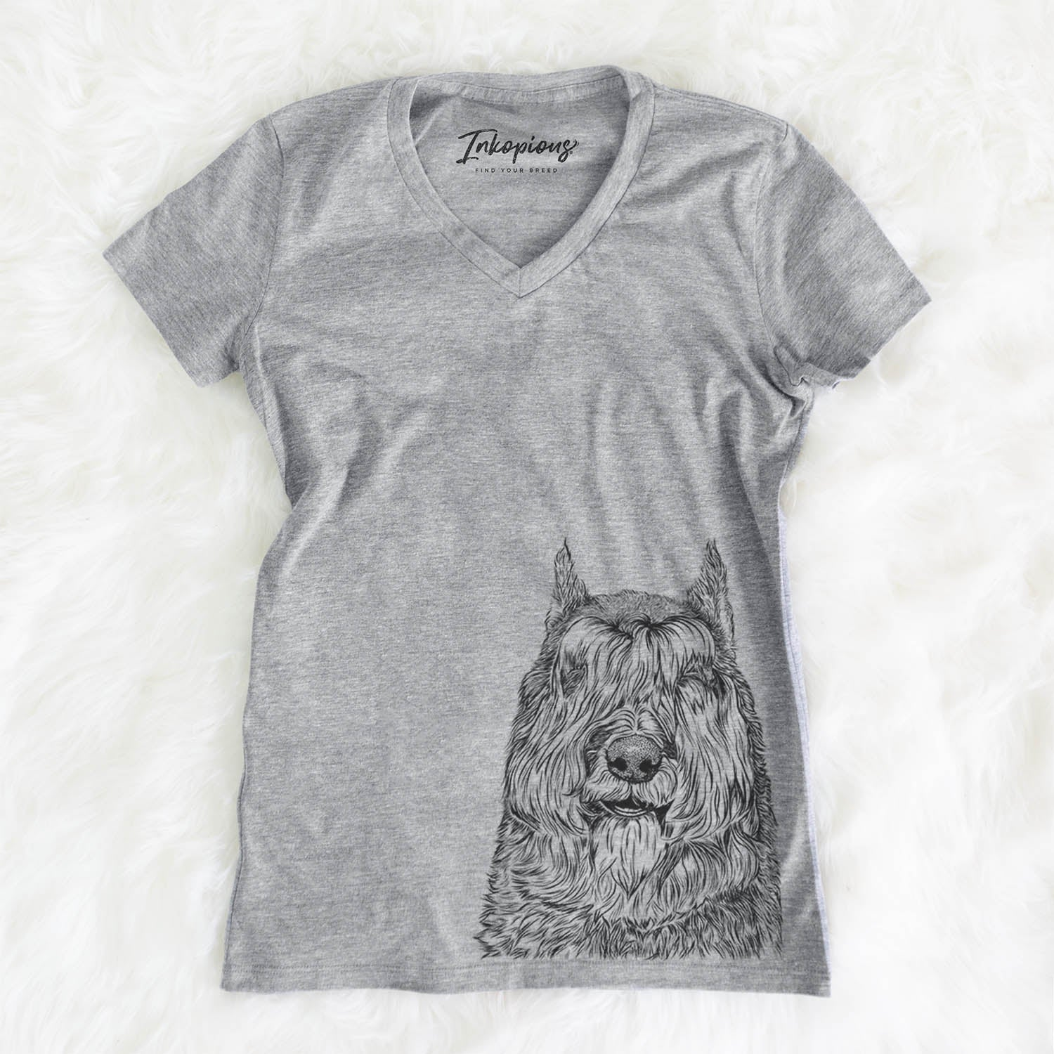 Sabre the Bouvier des Flandres - Women's Modern Fit V-neck Shirt