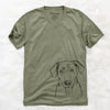 Scout Marie the Chocolate Lab - Unisex V-Neck Shirt