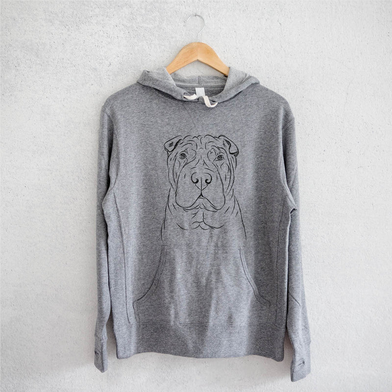 Sharpy the Shar Pei - French Terry Hooded Sweatshirt