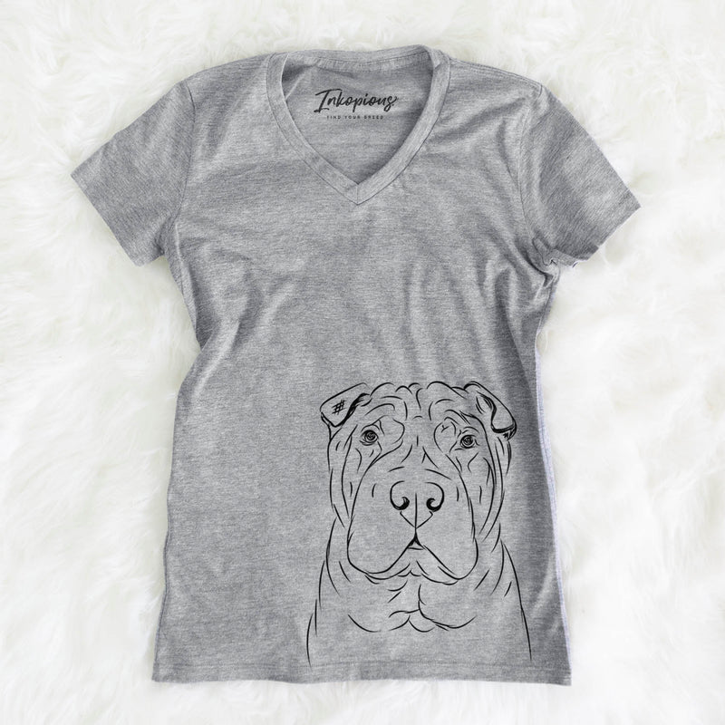 Sharpy the Shar Pei - Women's Modern Fit V-neck Shirt