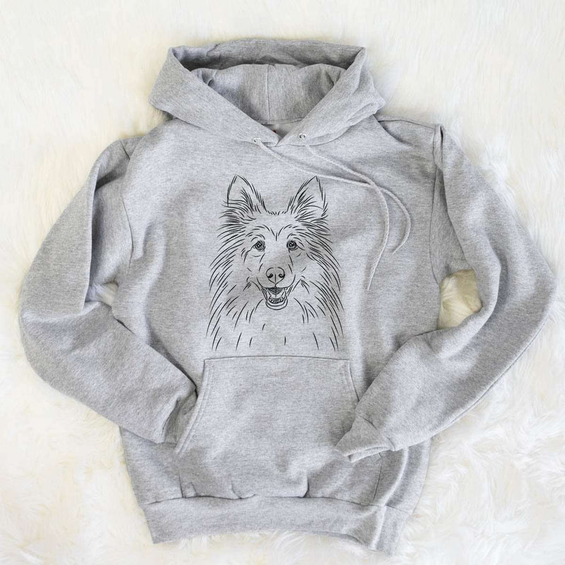 Sheldon the Shetland Sheepdog - Mens Hooded Sweatshirt