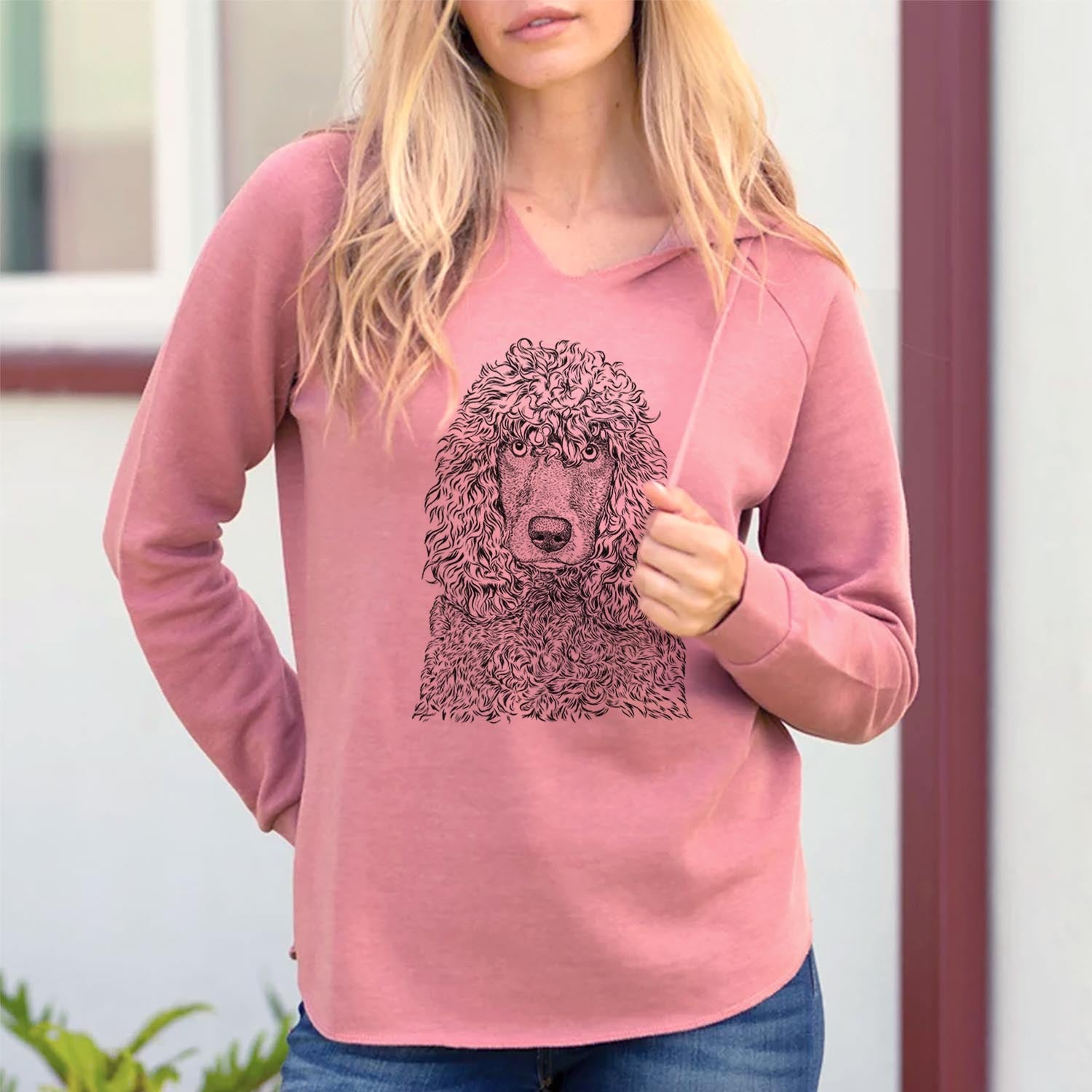 Shilo the Irish Water Spaniel - Cali Wave Hooded Sweatshirt