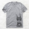 SirDuke the Doberman Pinscher - Unisex V-Neck Shirt