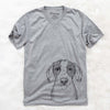 SophiePea the Mixed Breed - Unisex V-Neck Shirt