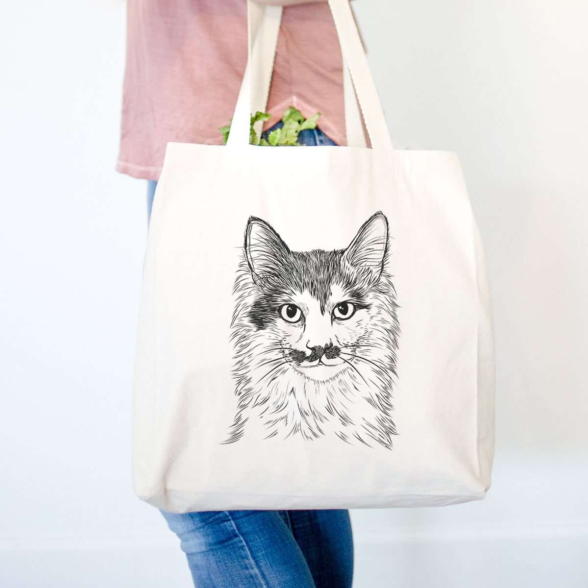 Stache the Longhaired Mustache - Tote Bag
