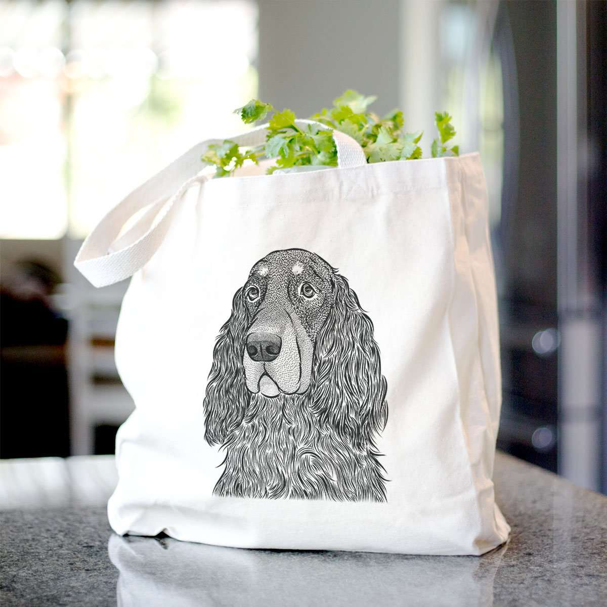 Stormy the Gordon Setter  - Tote Bag