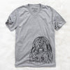 Trinket the Tibetan Terrier - Unisex V-Neck Shirt