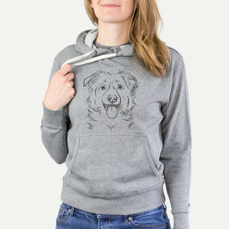 Tucker the Border Collie/Shepherd French Terry Hooded Sweatshirt