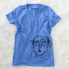 Tufton the English Mastiff - Women's Modern Fit V-neck Shirt