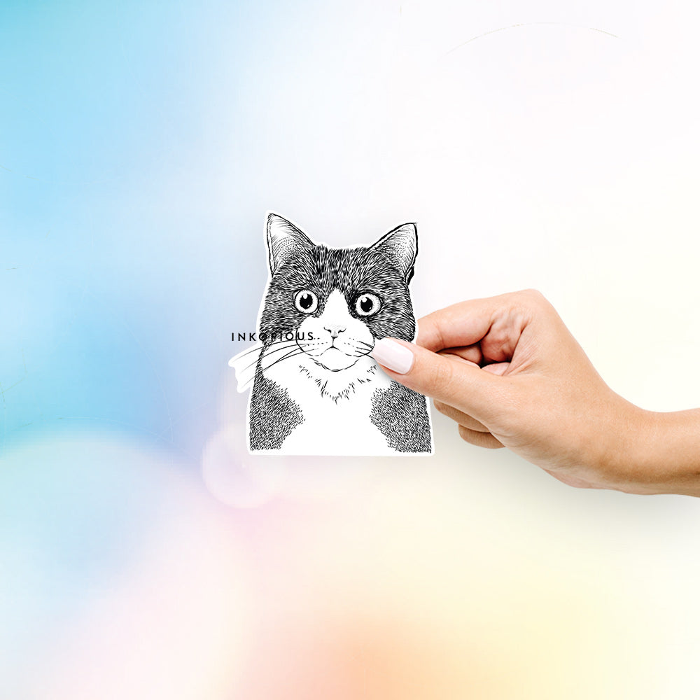 Tux the Tuxedo Cat - Decal Sticker