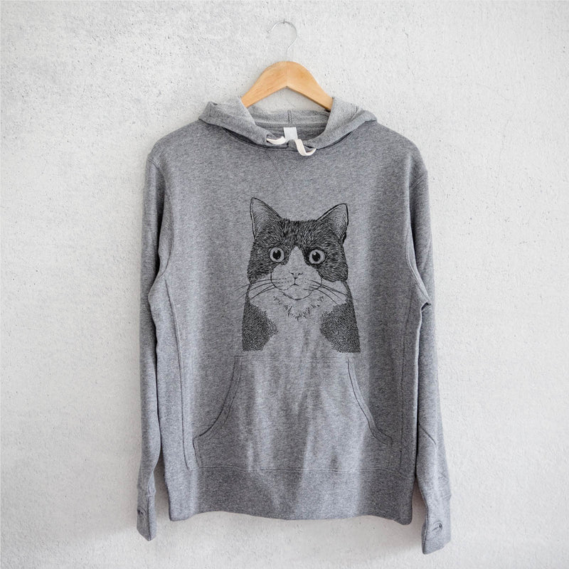 Tux the Tuxedo Cat - French Terry Hooded Sweatshirt