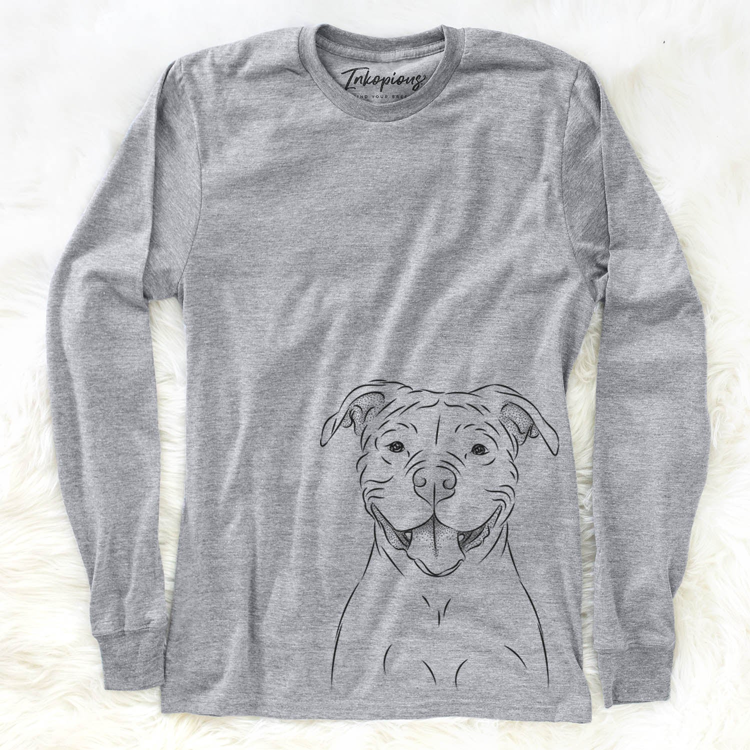 Tyson the American Bulldog - Long Sleeve Crewneck