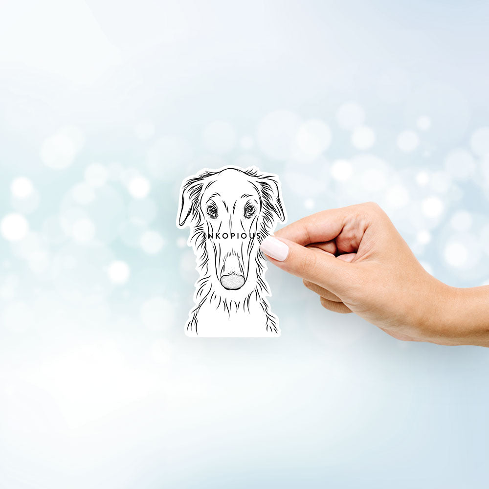 Vaughn the Borzoi - Decal Sticker