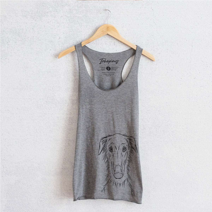 Vaughn the Borzoi - Tri-Blend Racerback Tank Top