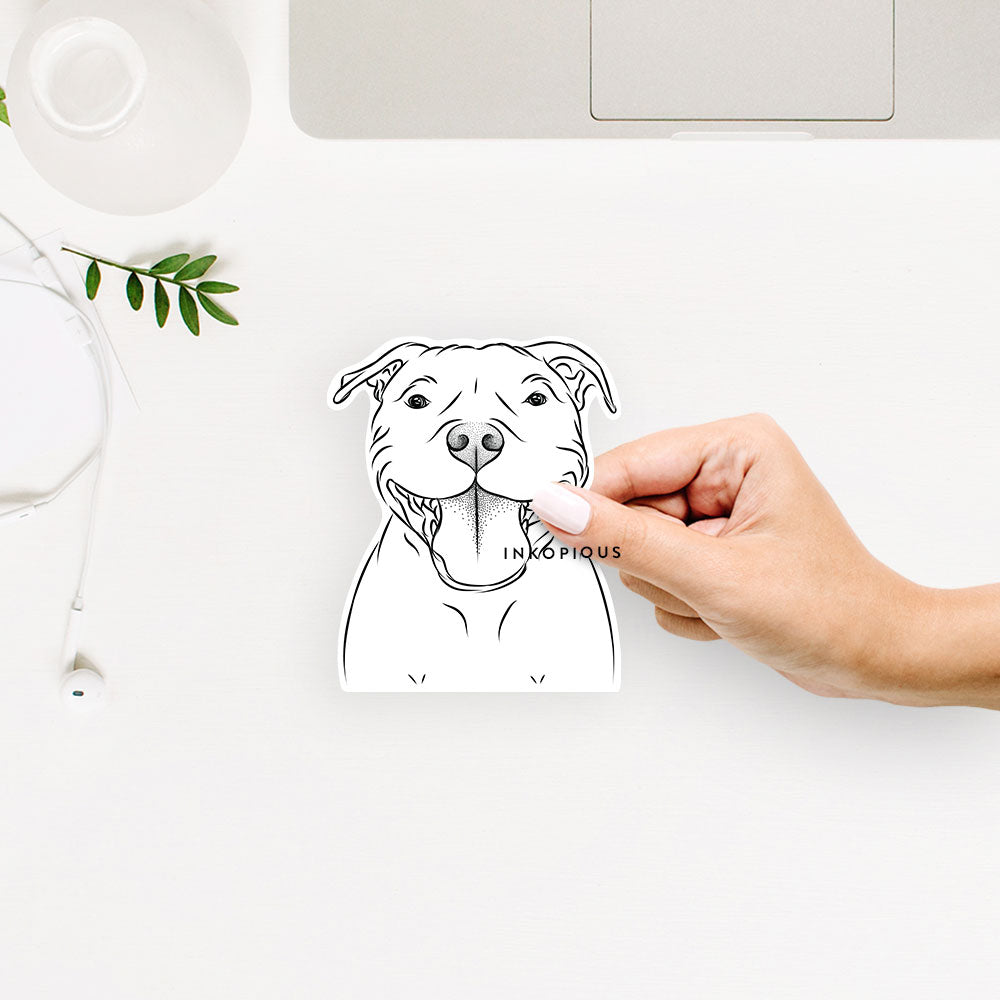 Wafer the Staffordshire Bull Terrier - Decal Sticker