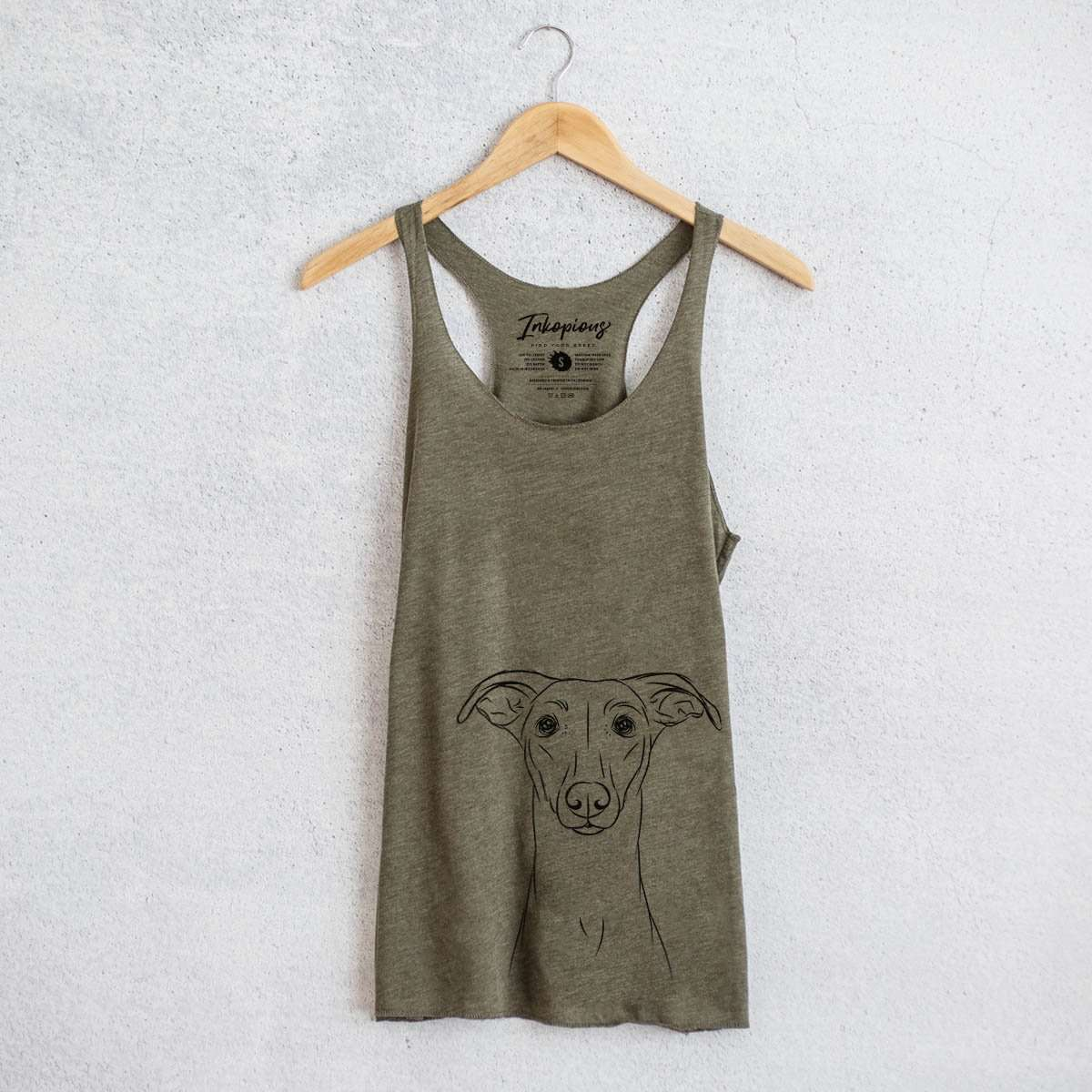 Wallace the Whippet - Tri-Blend Racerback Tank Top
