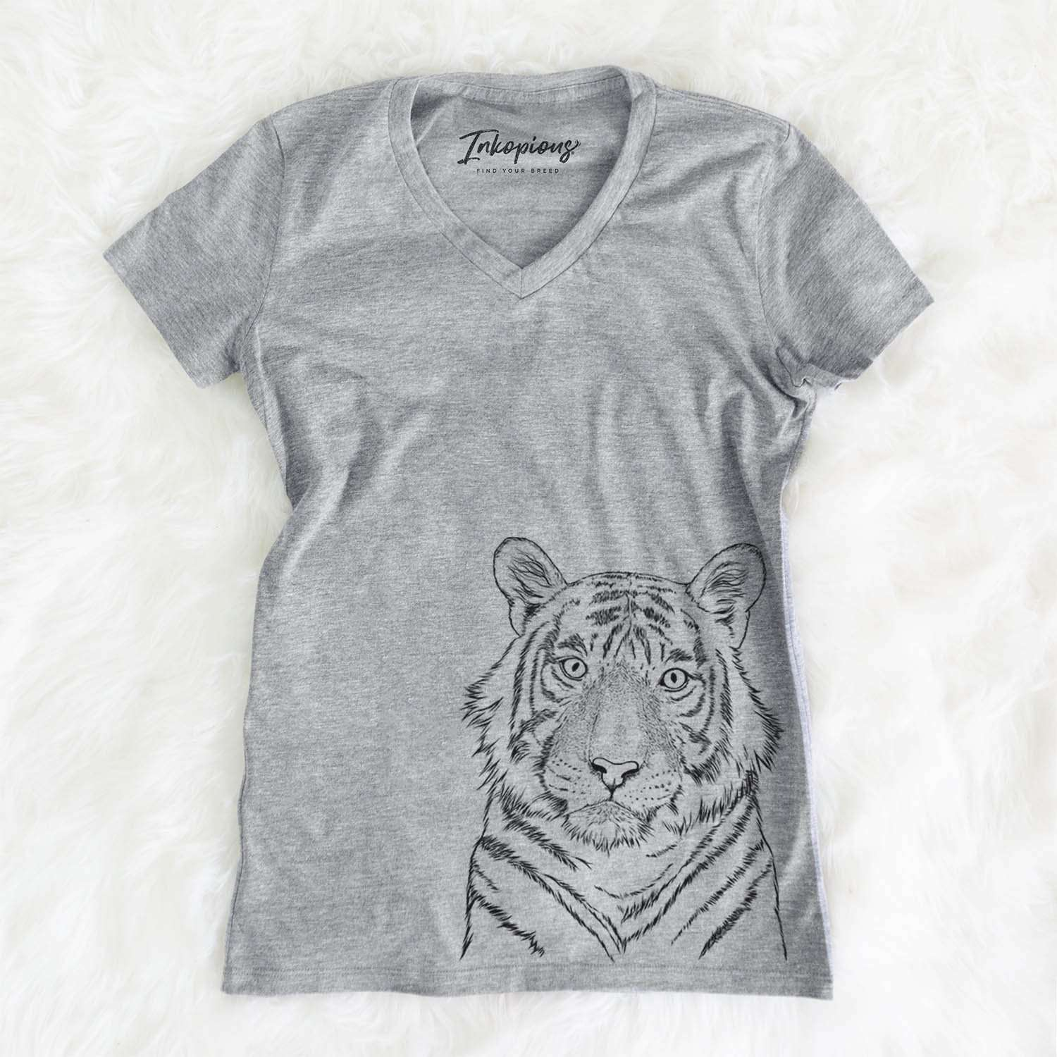 Wayne the Bengal Tiger - Women's Modern Fit V-neck Shirt