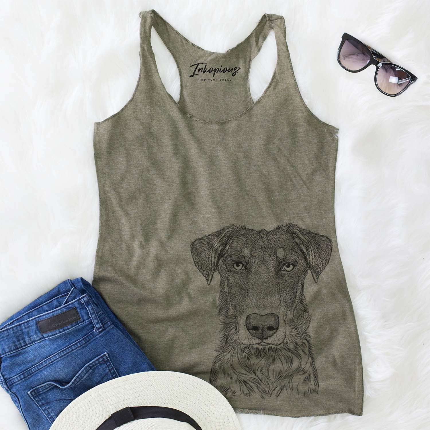 Wesson the Beauceron - Racerback Tank Top