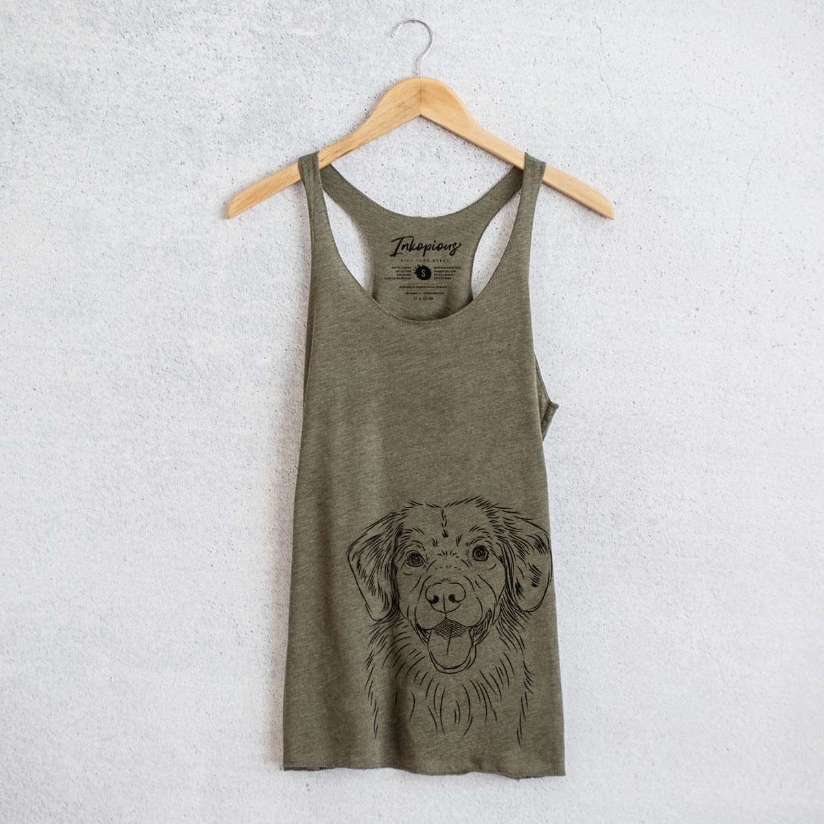 Weston the Nova Scotia Duck Tolling Retriever - Tri-Blend Racerback Tank Top
