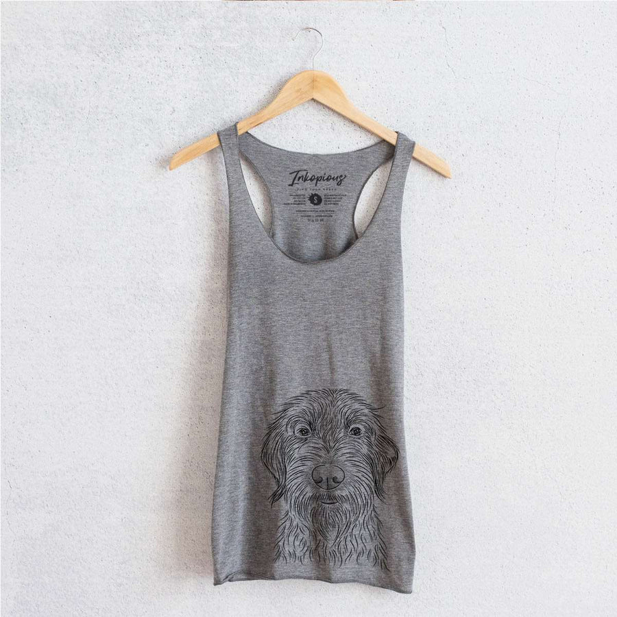 Wilkins the Wirehaired Pointing Griffon - Tri-Blend Racerback Tank Top