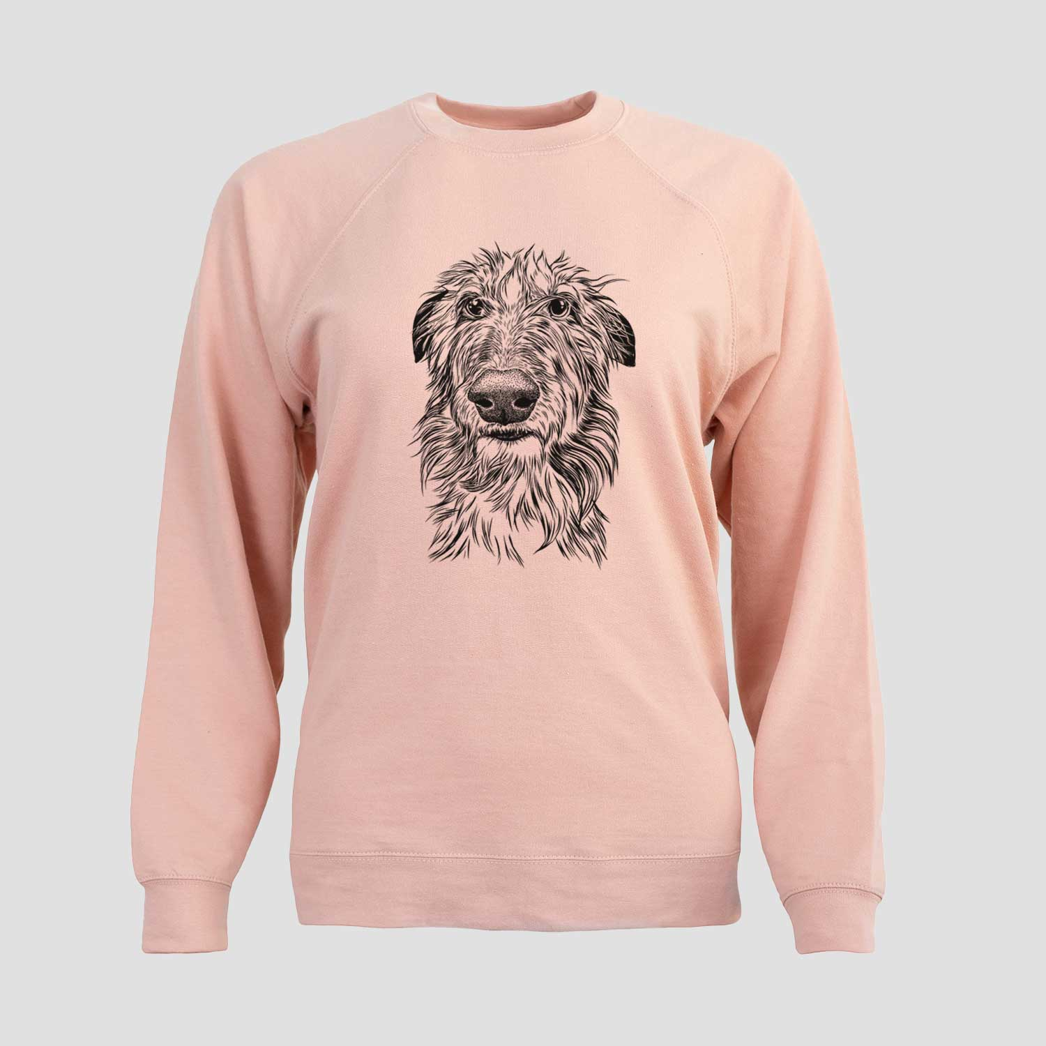 Cleod the Scottish Deerhound - Unisex Loopback Crewneck Sweatshirt