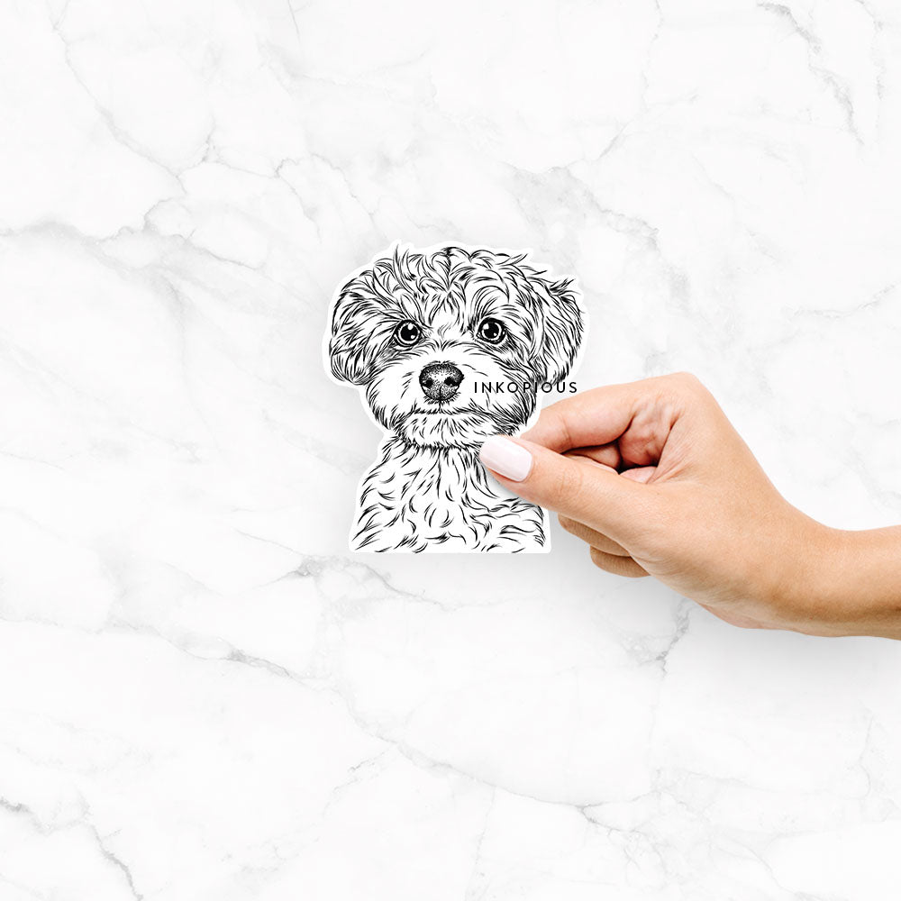 Elliott the Yorkiepoo - Decal Sticker