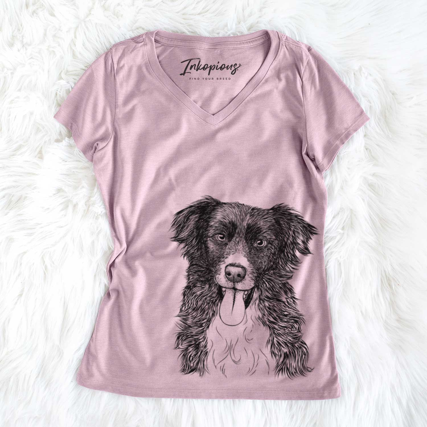 Indi the Border Collie - Women's Perfect V-neck Shirt