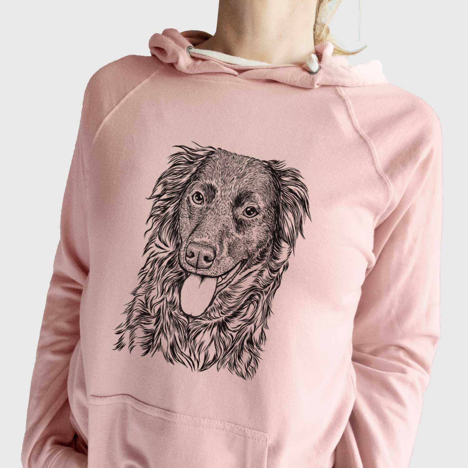 Maisie Mae the Aussiedor - Unisex Loopback Terry Hoodie