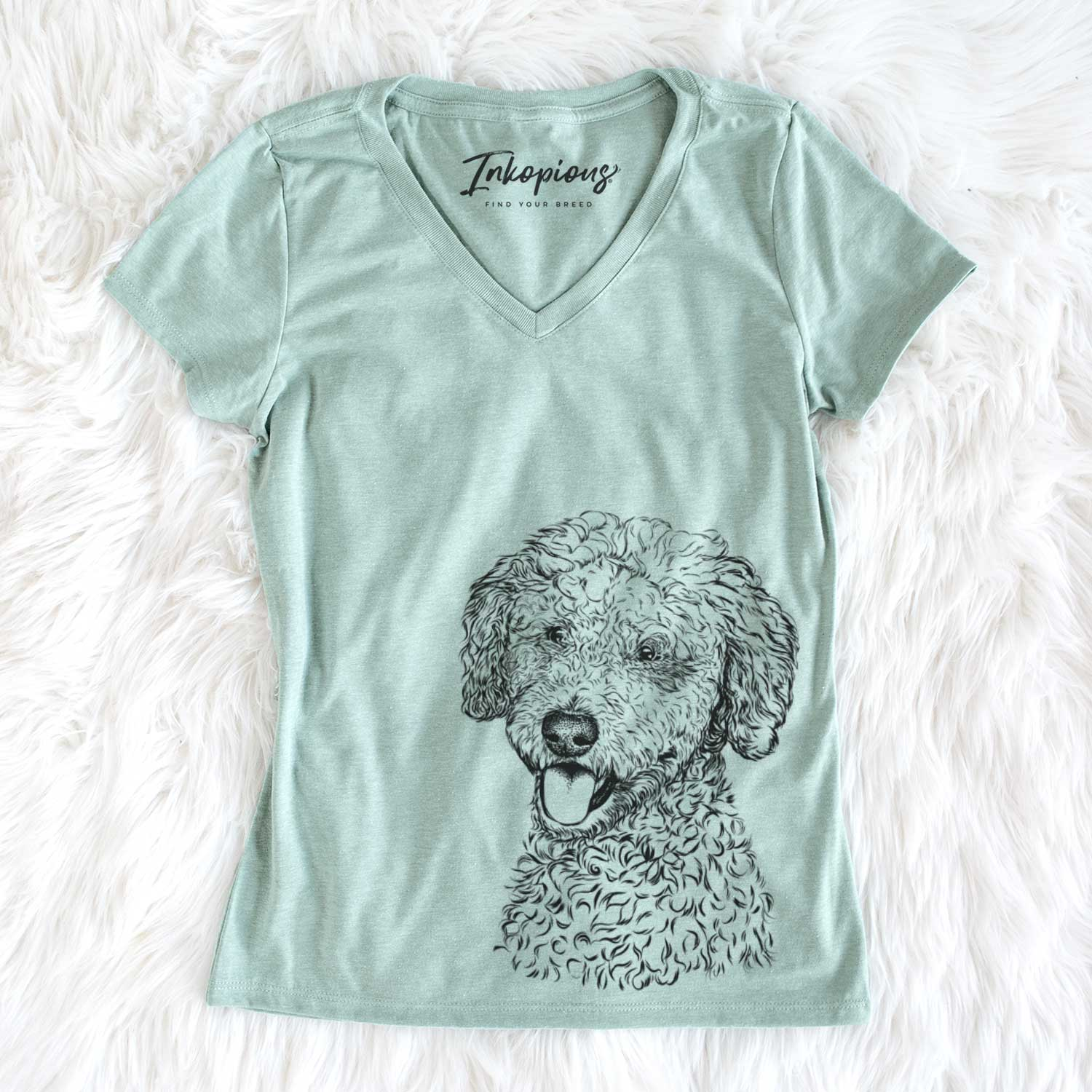 Marlow the Goldendoodle - Women's Perfect V-neck Shirt