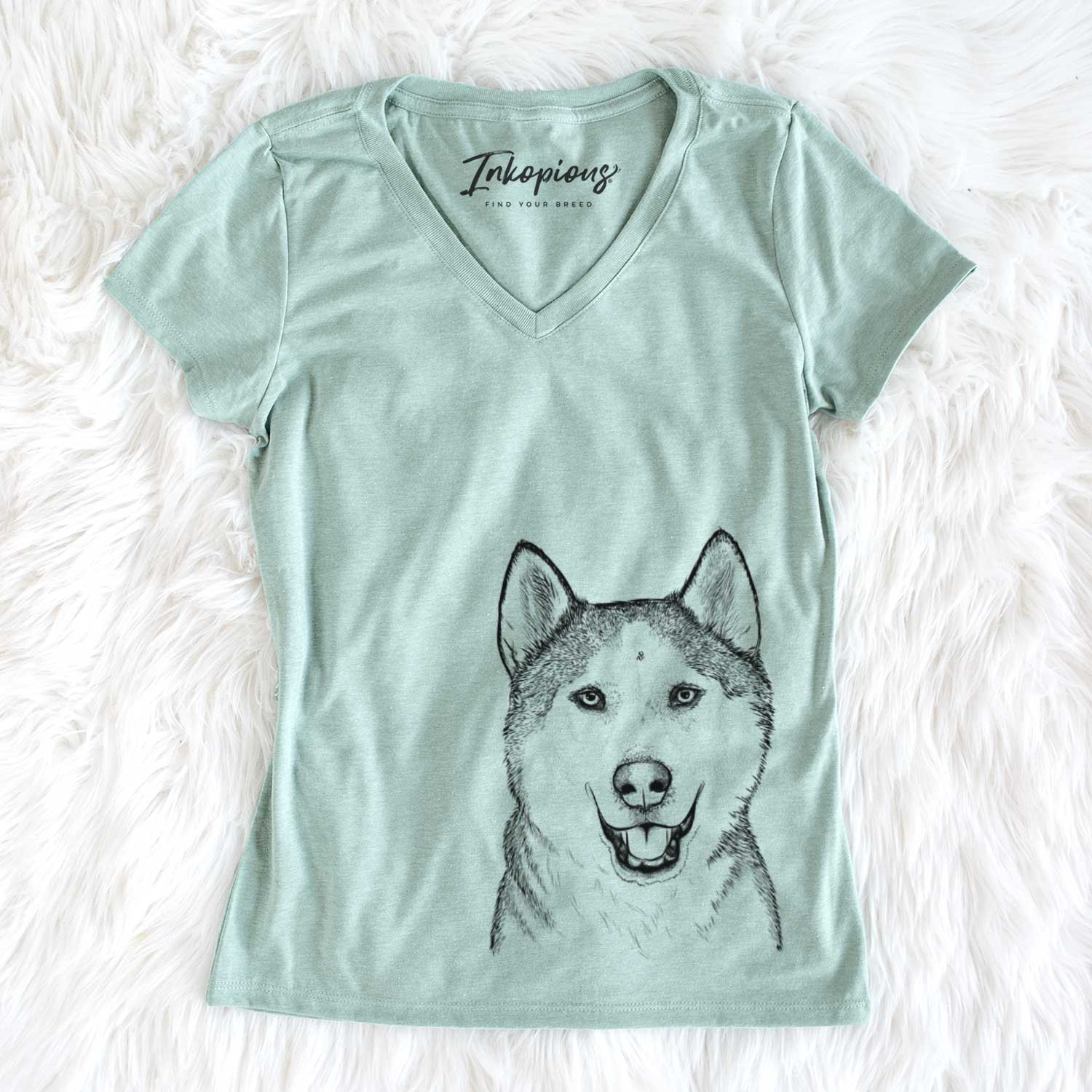 Nika the Siberian Husky - Women's Perfect V-neck Shirt