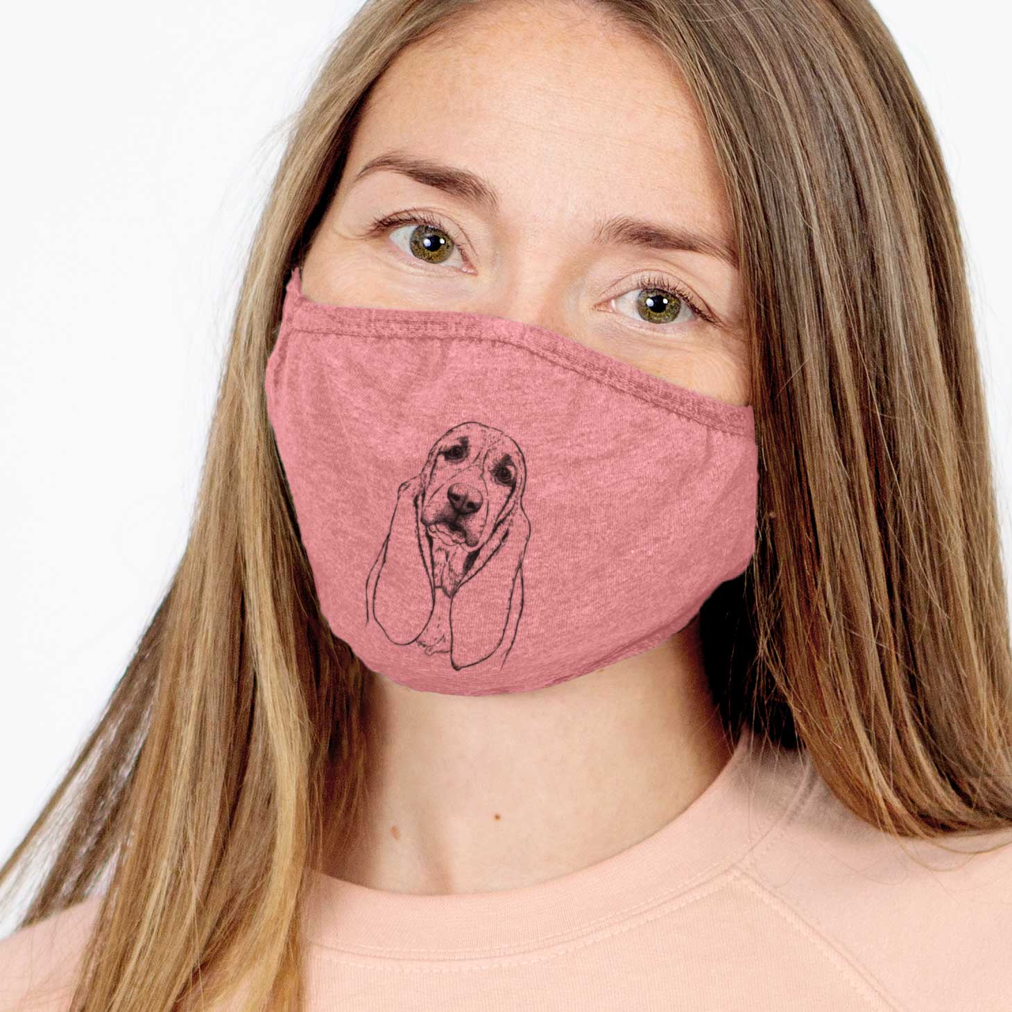 Rolo the Basset Hound Face Mask