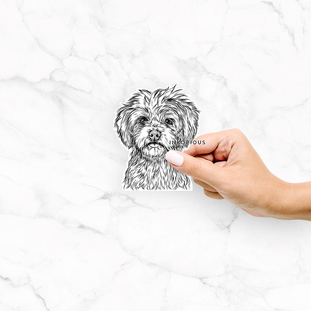 Sammy the Shorkie - Decal Sticker