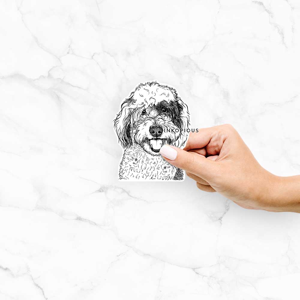 Sherlock the Sheepadoodle - Decal Sticker