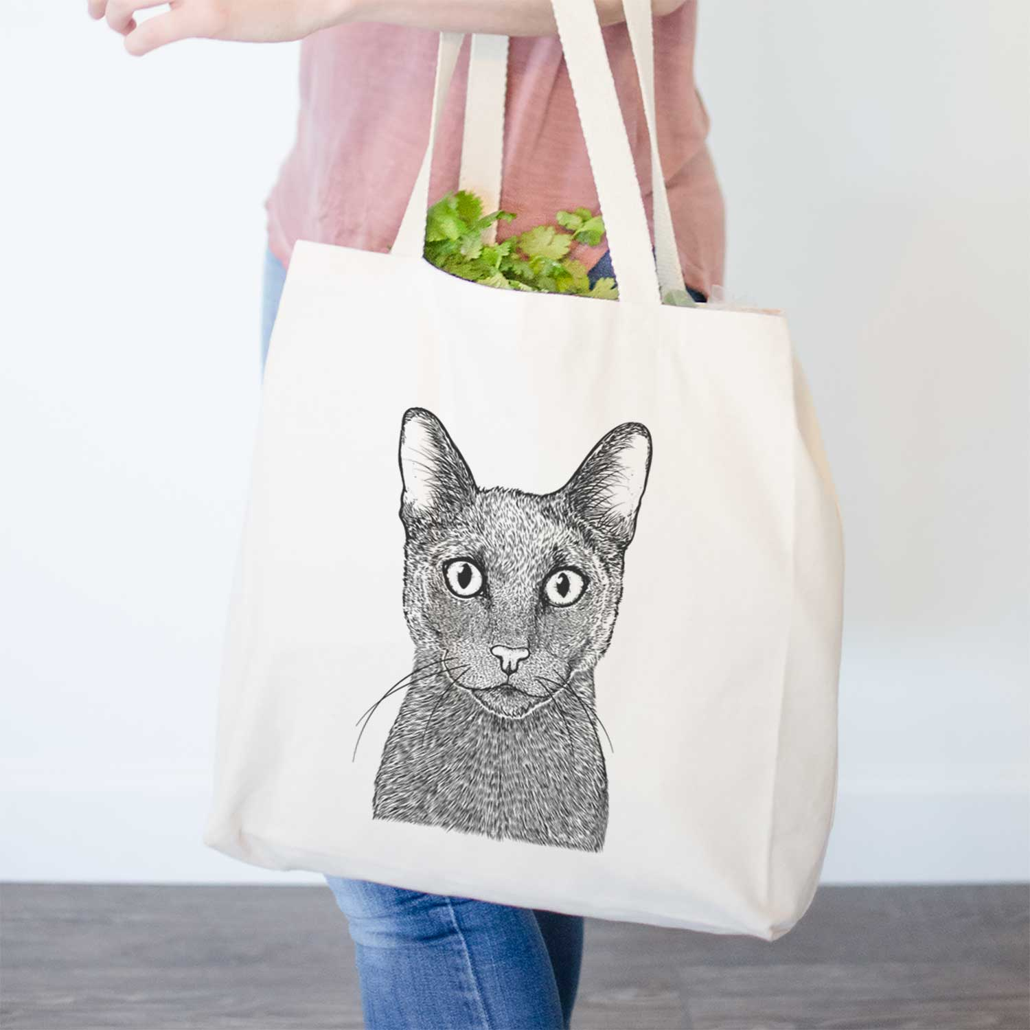 Stanley the Russian Blue Cat - Tote Bag