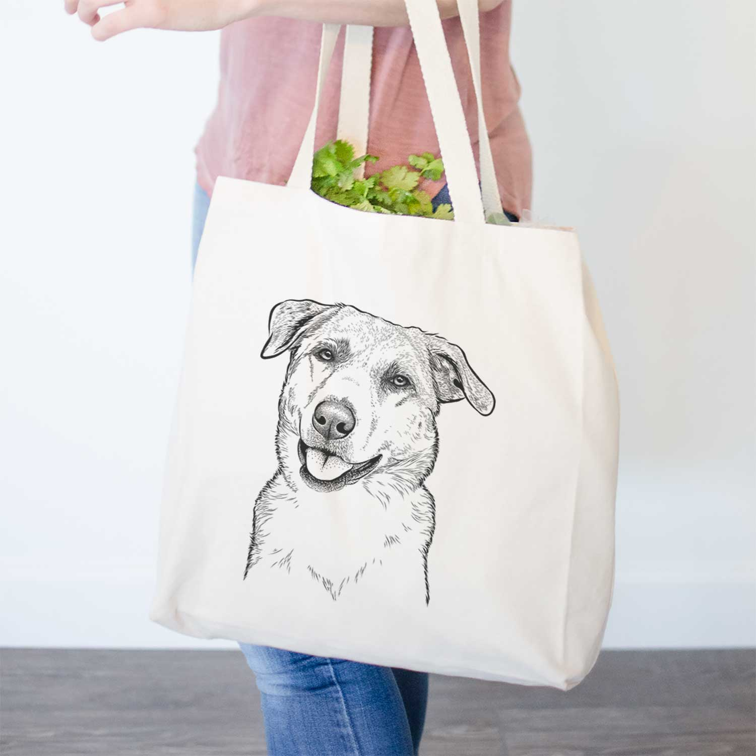 Sydney the Great Pyrenees Australian Shepherd Mix - Tote Bag