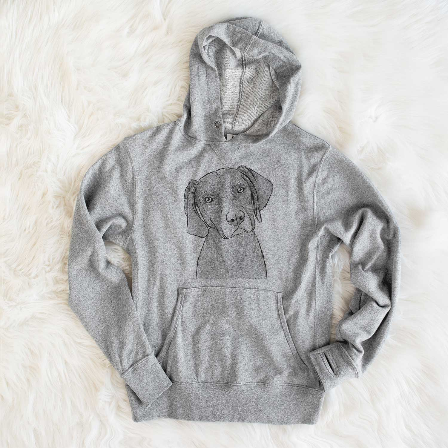Willow the Weizsla - French Terry Hooded Sweatshirt