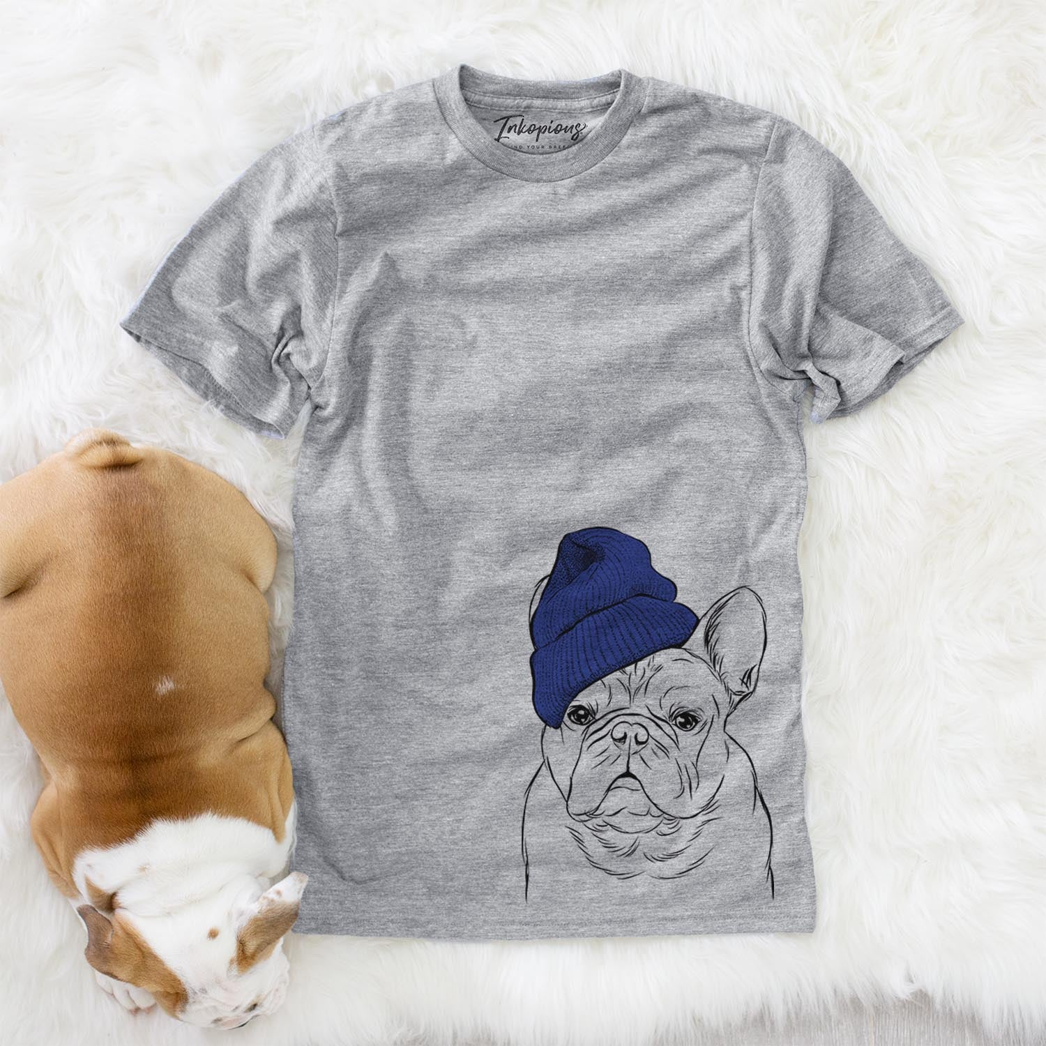 Fudge the French Bulldog  - Womens - Beanie Collection