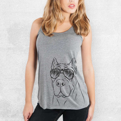 Bearson the Cane Corso - Tri-Blend Racerback Tank Top