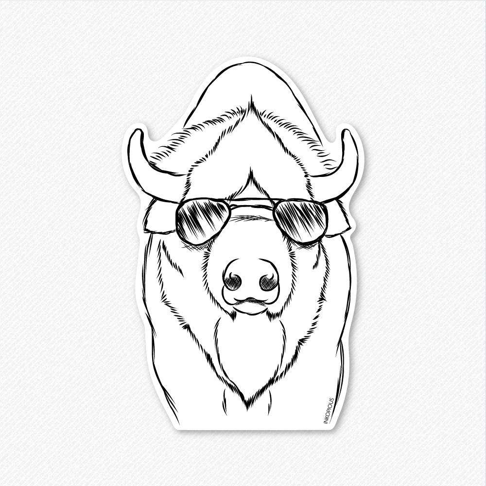Billy the Bison - Decal Sticker